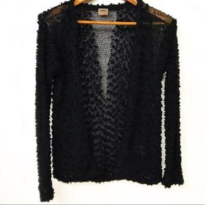 ONLY Black textured cardigan with sparkles